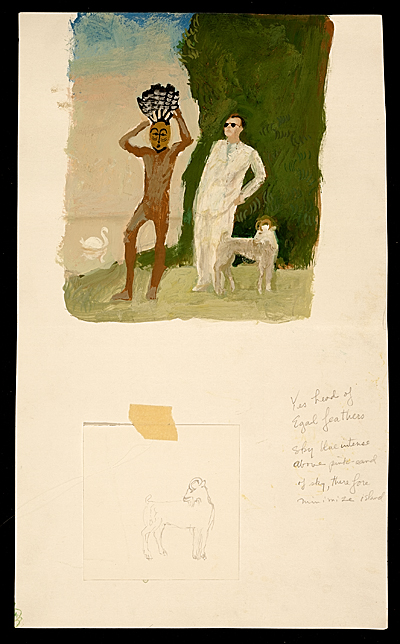 [Study for: Eagle Feathers and Art Critic]