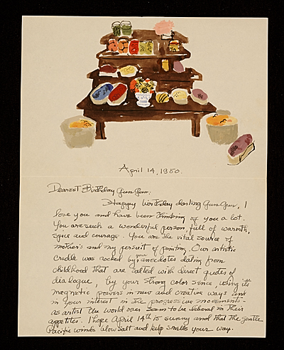 Honoré Sharrer, New York, N.Y. letter to Honoré Sachs