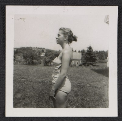 Unidentified woman in a bathing suit