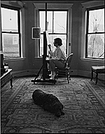 Honoré Sharrer in her studio