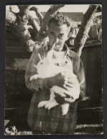 Man holding a rabbit
