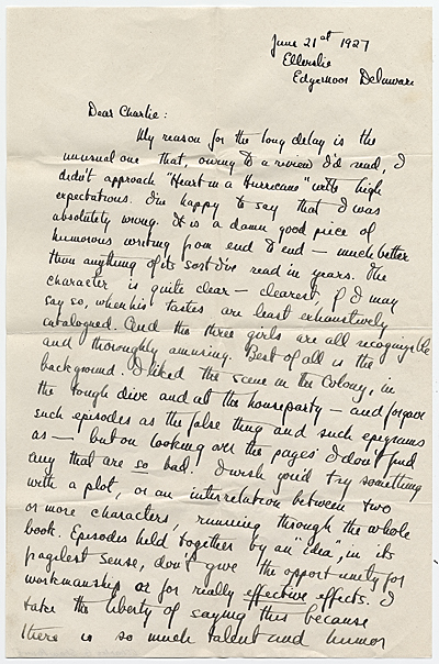 F. Scott Fitzgerald letter to Charles Green Shaw