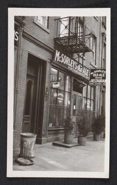 [Storefront of McSorley's Old Alehouse & Restaurant in New York]