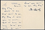 Cole Porter, Paris, France letter to Charles Green Shaw