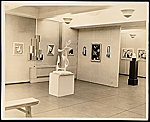 Installation view of the American Abstract Artists first exhibition