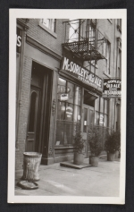 [Storefront of McSorley's Old Alehouse & Restaurant in New York ]