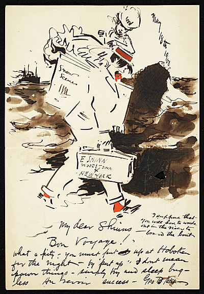 George Benjamin Luks letter to Everett Shinn