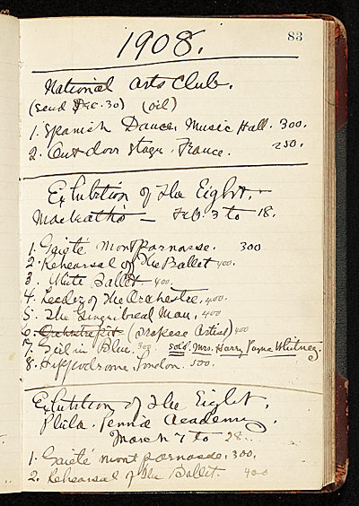 [Everett Shinn account book]