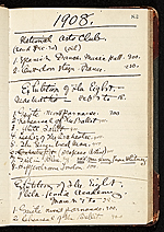 Everett Shinn account book