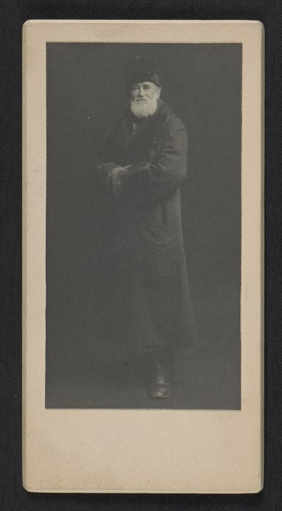 Louis Prang in a winter coat