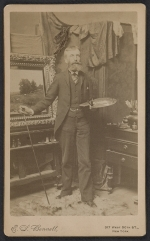 George Henry Smillie in his studio