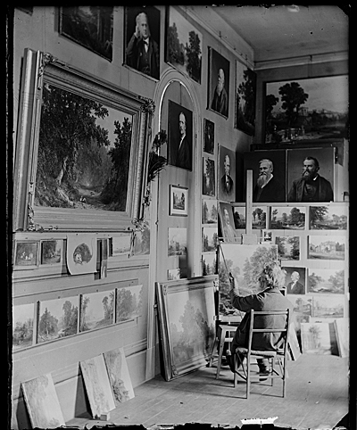 Russell Smith in his studio