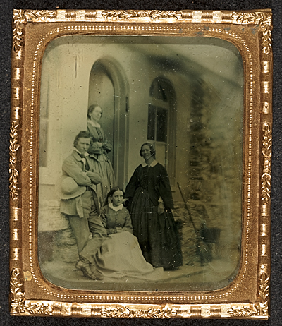 [Russell Smith, Priscilla Smith, daughter Mary Smith and an unidentified woman.]