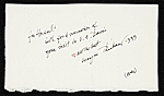 [Wayne Thiebaud letter to Hassel Smith verso 1]