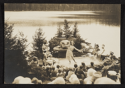 [Play given for Amelia Earhart after her Atlantic solo flight, 'Brewster's Dark Pond', Ocean Born Mary House, Henniker, New Hampshire]