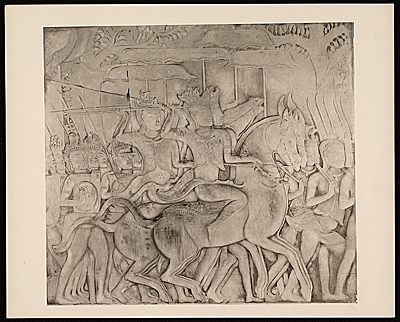 Photograph of the relief sculpture Marching Army