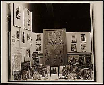 Bookstore display featuring art and book of Joseph Lindon Smith