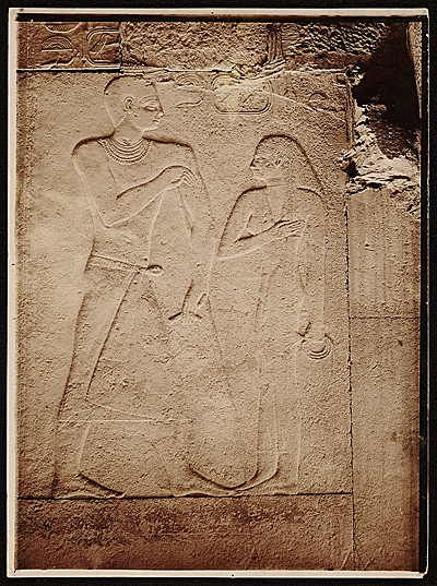 Egyptian wall relief used as source material for Joseph Lindon Smith.