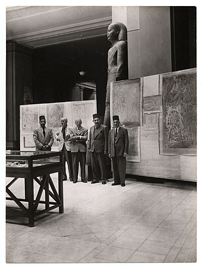 Joseph Lindon Smith at Cairo Museum