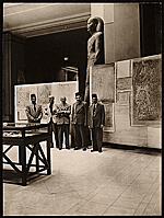 Joseph Lindon Smith at his first exhibition in the Cairo Museum, Egypt