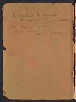 [Joseph Lindon Smith diary of travel in Egypt cover back 1]