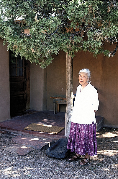 [Alice Kagawa Parrott at her home in Santa Fe]