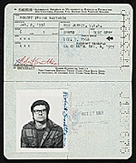 Robert Smithsons passport