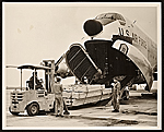United States Air Force unloading of art from a plane