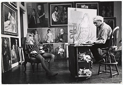 Moses Soyer with model