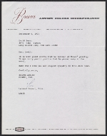 Leonard Bocour letter to David Soyer