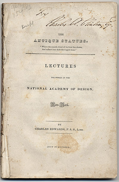 [Lectures Delivered at the National Academy of Design]