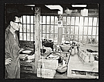 Japanese potter in his studio