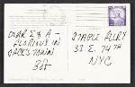 [Postcard from Robert Indiana to Eleanor Ward and Alan Groh at the Stable Gallery verso 1]