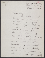 letter from David Park to George Staempfli, Sept. 20, 1959