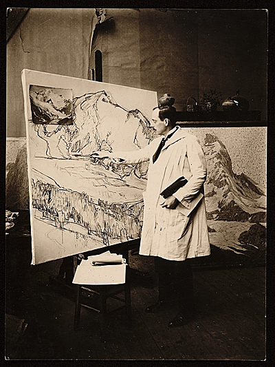 Edgar Alwin Payne at work