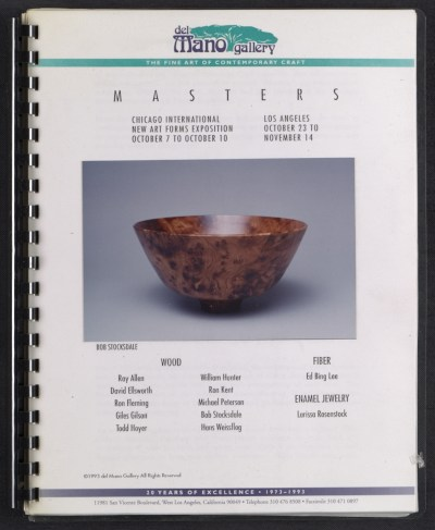 [Catalog for Masters, Chicago International New Art Forms Exposition]