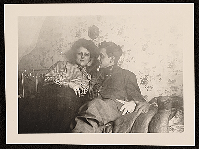 [John Storrs and an unidentified woman]