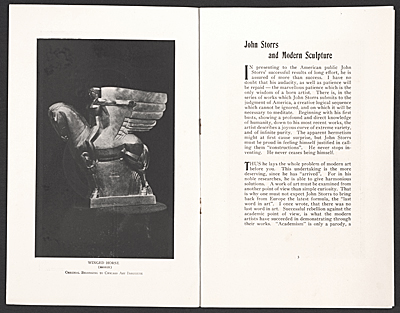 [John Storrs and modern sculpture]