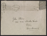 [Berenice Abbott letter, Berlin, Germany, to John Henry Bradley Storrs, Paris, France envelope 3]