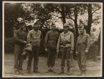 George Leslie Stout with other Monuments Men in Marburg, Germany