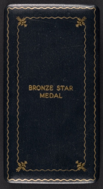 [George Leslie Stout's Bronze Star medal and case ]