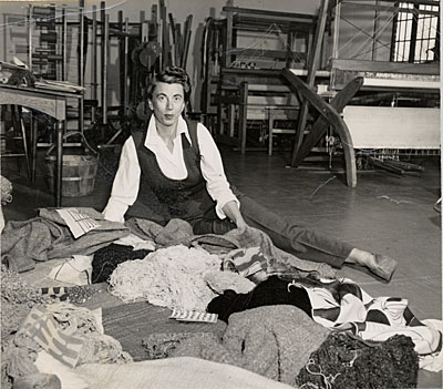 Marianne Strengell in her studio