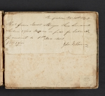 [Jonathan Sturges receipt book cover verso 1]