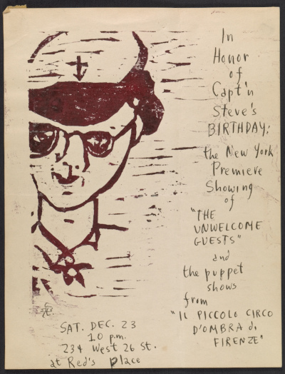 Invitation to The Unwelcome Guests and Puppet Shows, 23 December [1961].