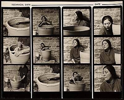 [Toshiko Takaezu pot making series]