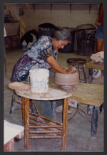 Toshiko Takaezu demonstrating at the Ceramic League, Miami, Florida