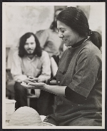 Toshiko Takaezu at the potters wheel