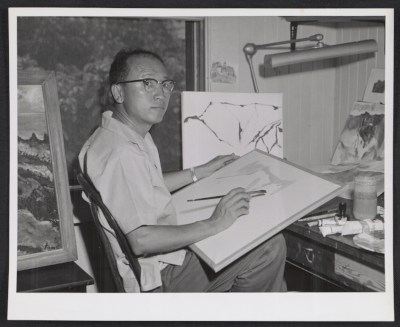 Reuben Tam in his studio
