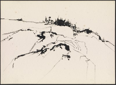 [Maine landscape sketch]