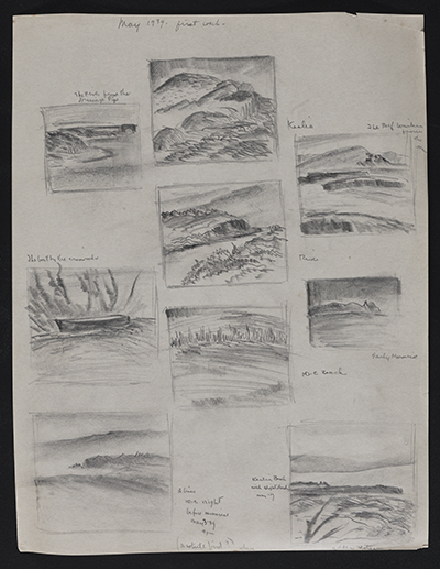 [Hawaii landscape sketches]